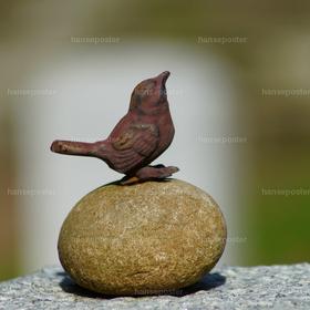 Vogel auf Grabstein