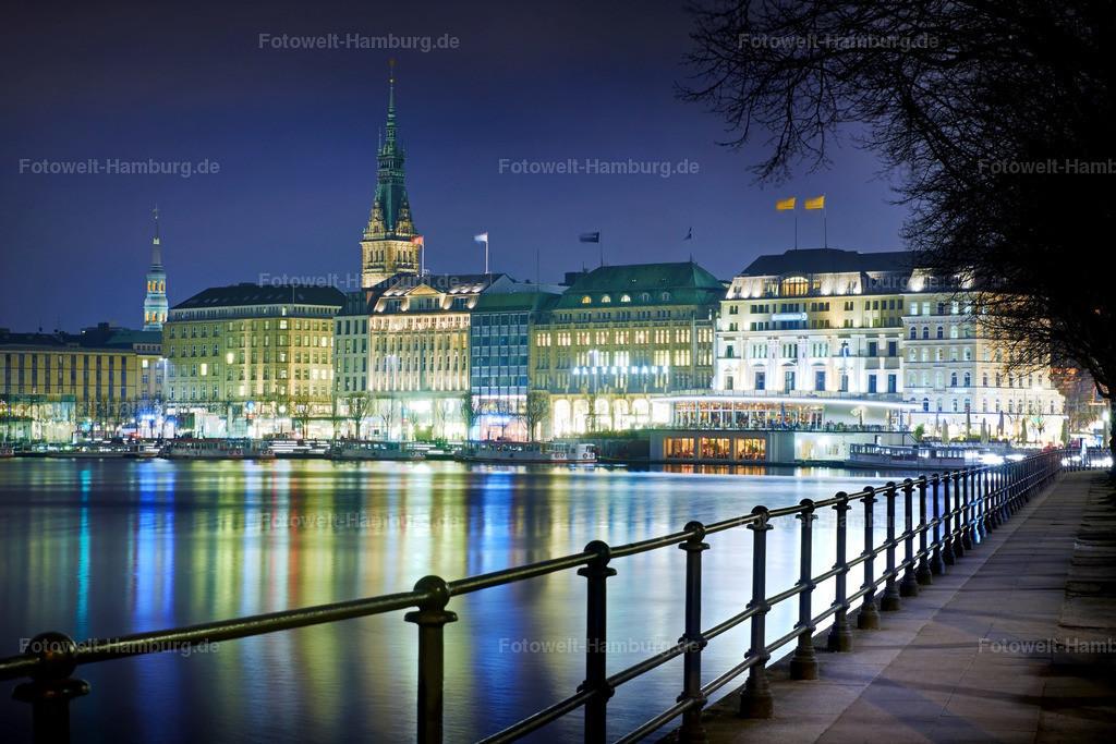 11484388 - Binnenalster bei Nacht | Nächtliche Stimmung an der Binnenalster in Hamburg