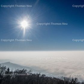 Nebel-5 | Bensheim,Melibokusturm, Blick in die Ebene, Nebel, Sonne, ,, Bild: Thomas Neu