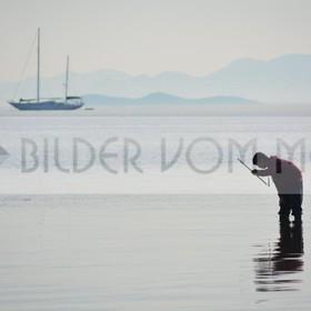 Fotoausstellung Bilder vom Meer | Der Fischer und das Schiff im Mar Menor
