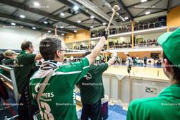 2016_025_BLM_PrePlayOff_Netzhoppers-Mitteldeutschland | Die Trommler sorgen für Stimmung in der Landkost-Arena
