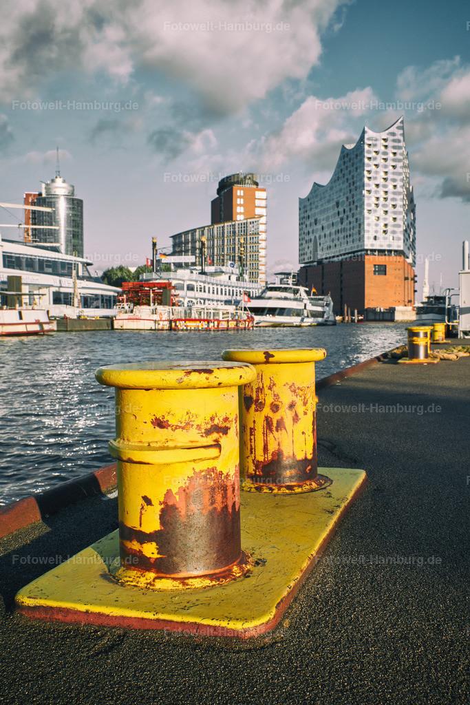 11945553 - Hafenpoller und Elbphilharmonie | Hafenatmosphäre am Niederhafen
